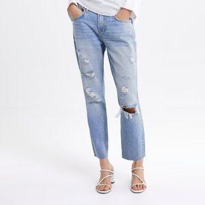 NWT Zara ZW Premium Cigarette Jeans  Sunrise Blue